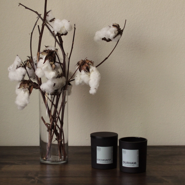 Bright Black Candle cotton